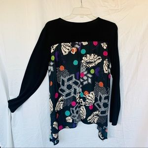 Desigual Geometric Print flowing swing blouse